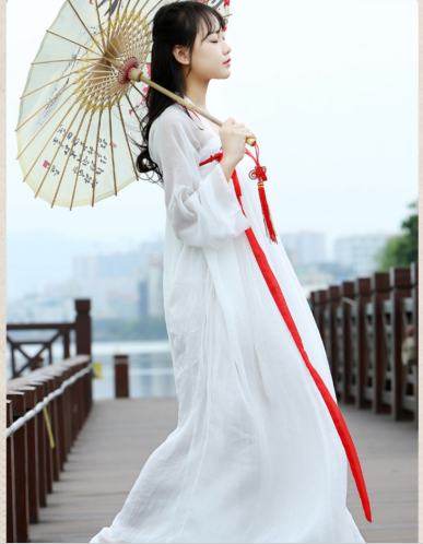 chiffon Chinese Tang girl dress women ancient costume skirt traditional