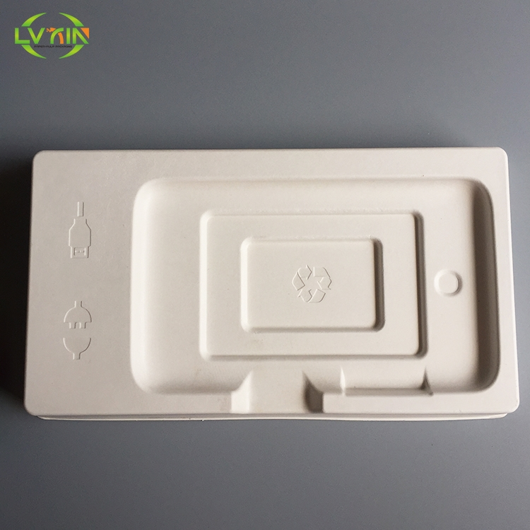 Wet pressing ebook white electronics packaging trays molded pulp