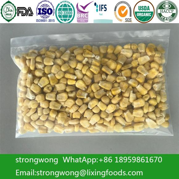 Freeze Dried Corn Food Ingredient Healthy Crisp Vegetables Snack