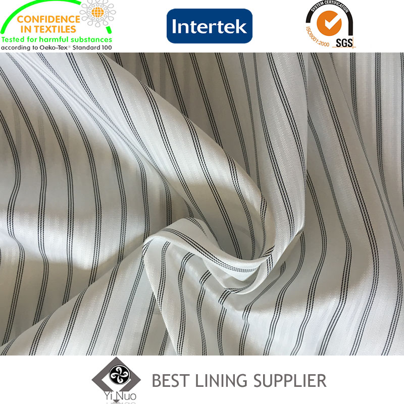100 Polyester Mens Suit Black and White Long Sleeve Lining Supplier