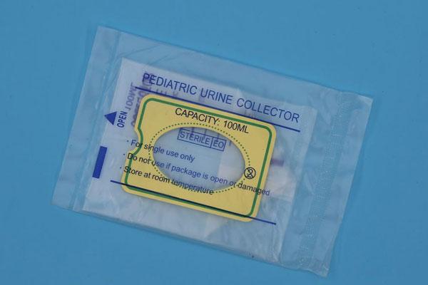 Disposable urine drainage bag for children