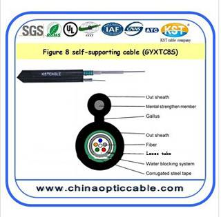 8-Like Self-supporting Center Tube Optial cable(GYXTC8S)