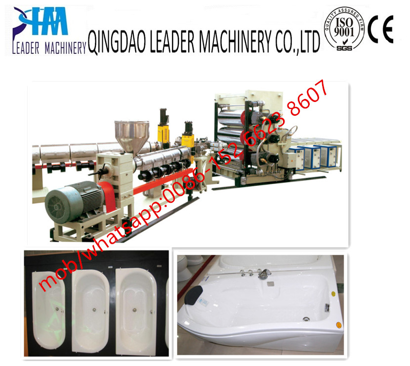 ABS PMMA Sanitaryware bathtub board extrusion line