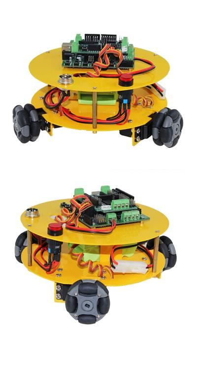 3 WD 48mm Omni Wheels Arduino compatible Robotics car 10014