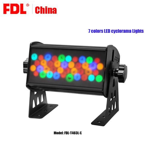 7 Color mixing LED cyclorama sky lights