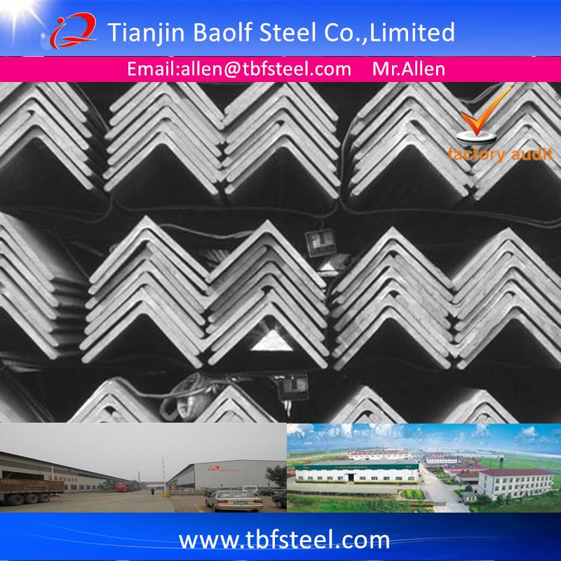 ASTM A36 JIS3192 SS400 Hot Rolled Equal Angle Steel Bar