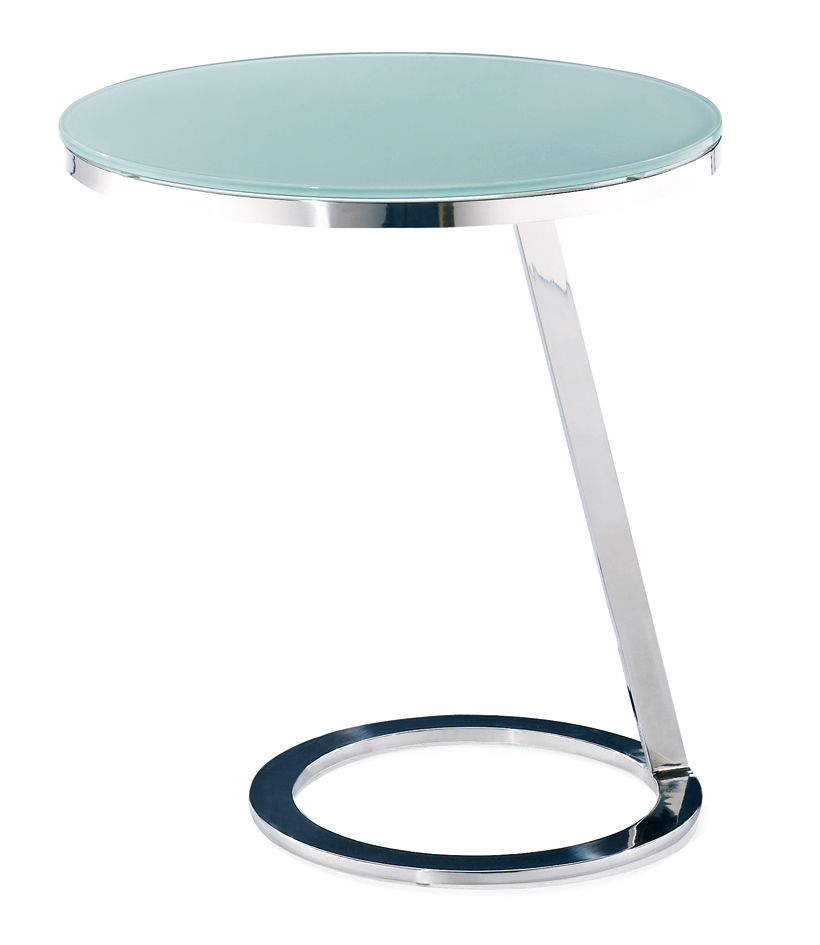 SHIMING FURNITURE Tempered glass with stainless steel small end side table
