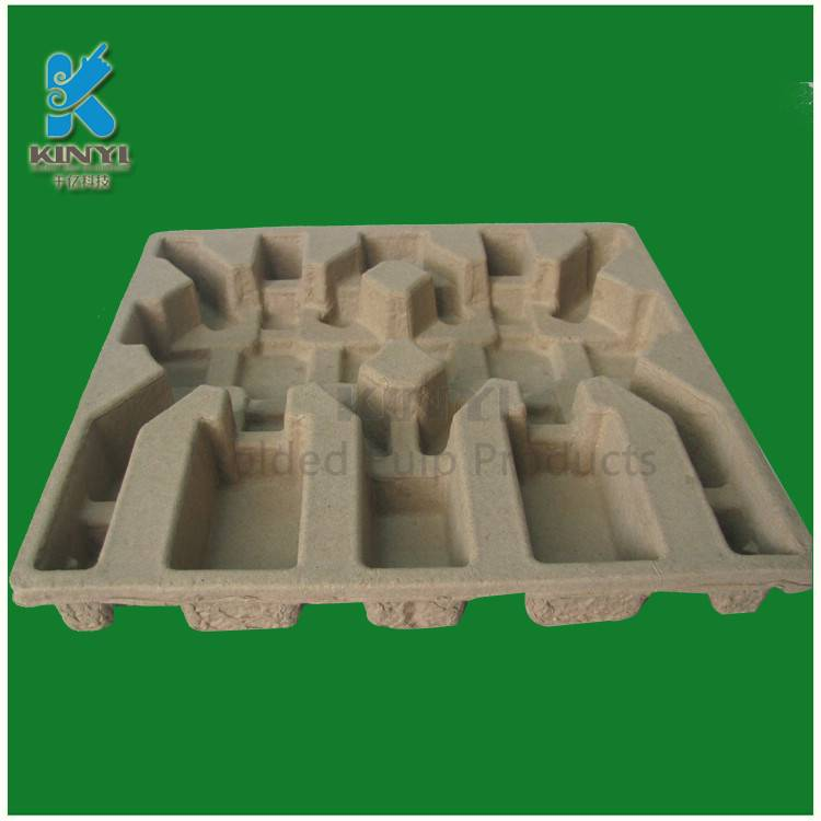 Recycled paper pulp molded environmental electronic packaging tray