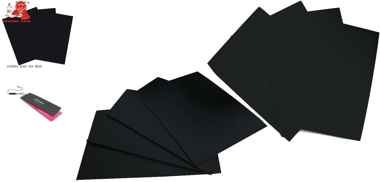Black paper board/laminated cardboard/paperboard 370g 380g 390g 400g 410g 420g 430g 440g 450g 460g 4