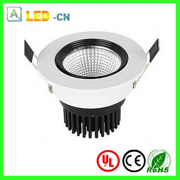 7W dimmable COB led recessed down light