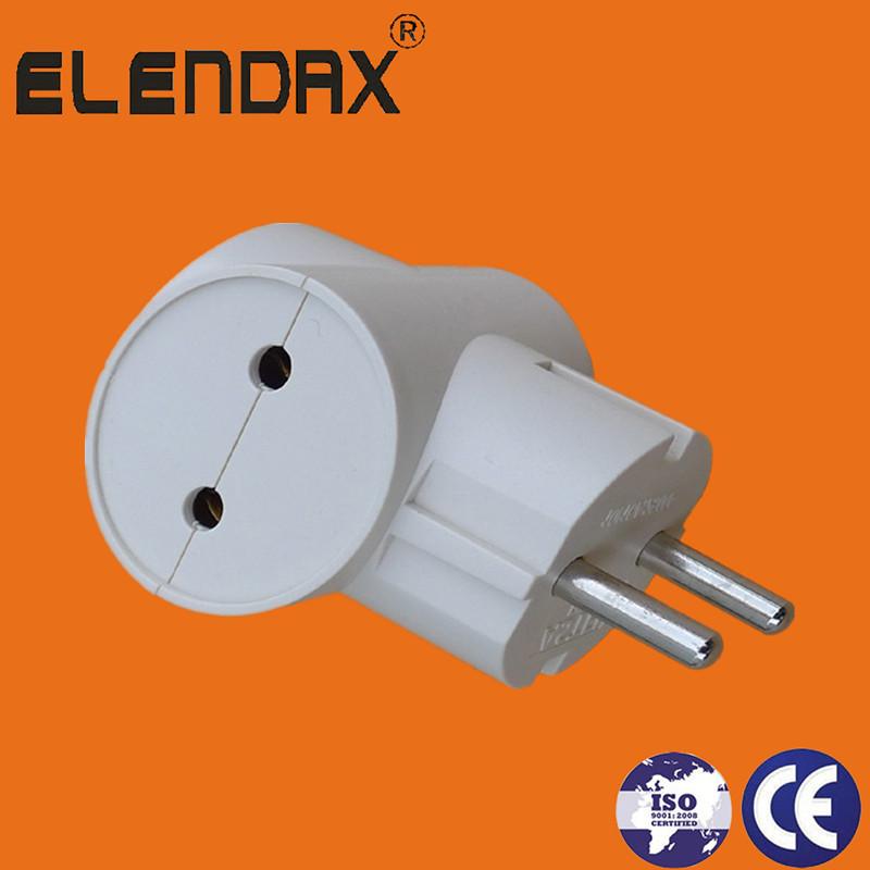 EU Style 2 pin plug to 3 socket(P7032)