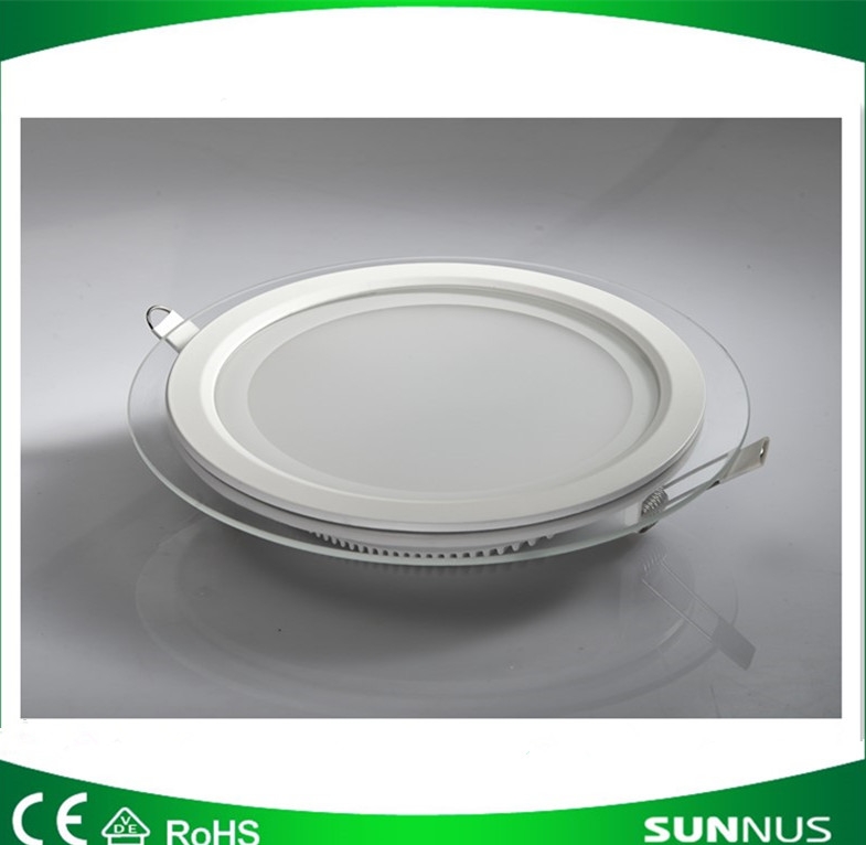 Led panel Light Round glass ceiling light 12W recessed down Lighting