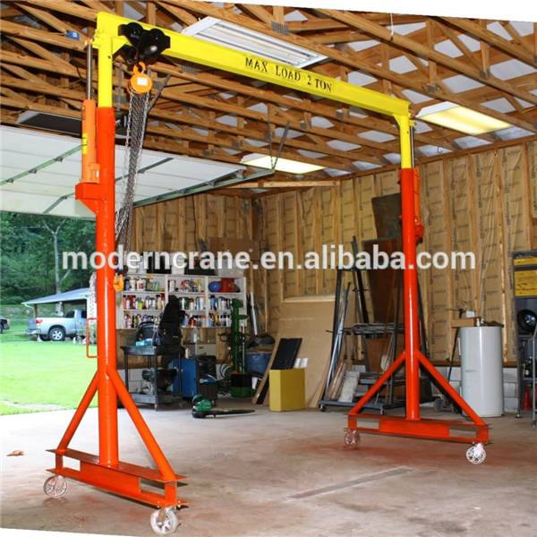 portable gantry crane ,small gantry crane 1ton ,2ton ,3 ton , with electric wire rple hoist