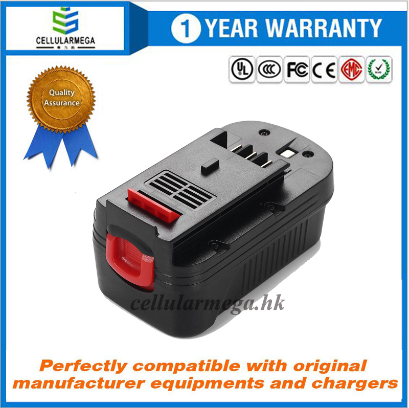 Cellularmega 3.0Ah 18V Replacement Battery for Black&Decker A1718 A18NH HPB18 HPB18-OPE