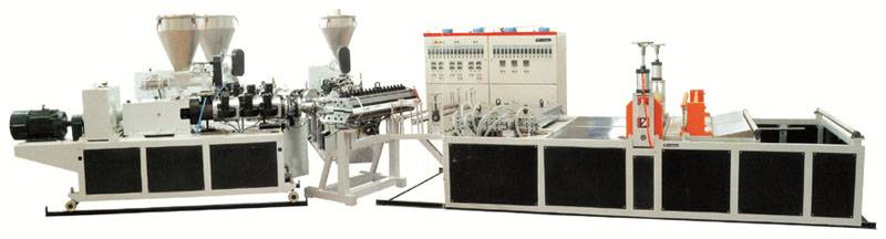 PVC roof tile extrusion line