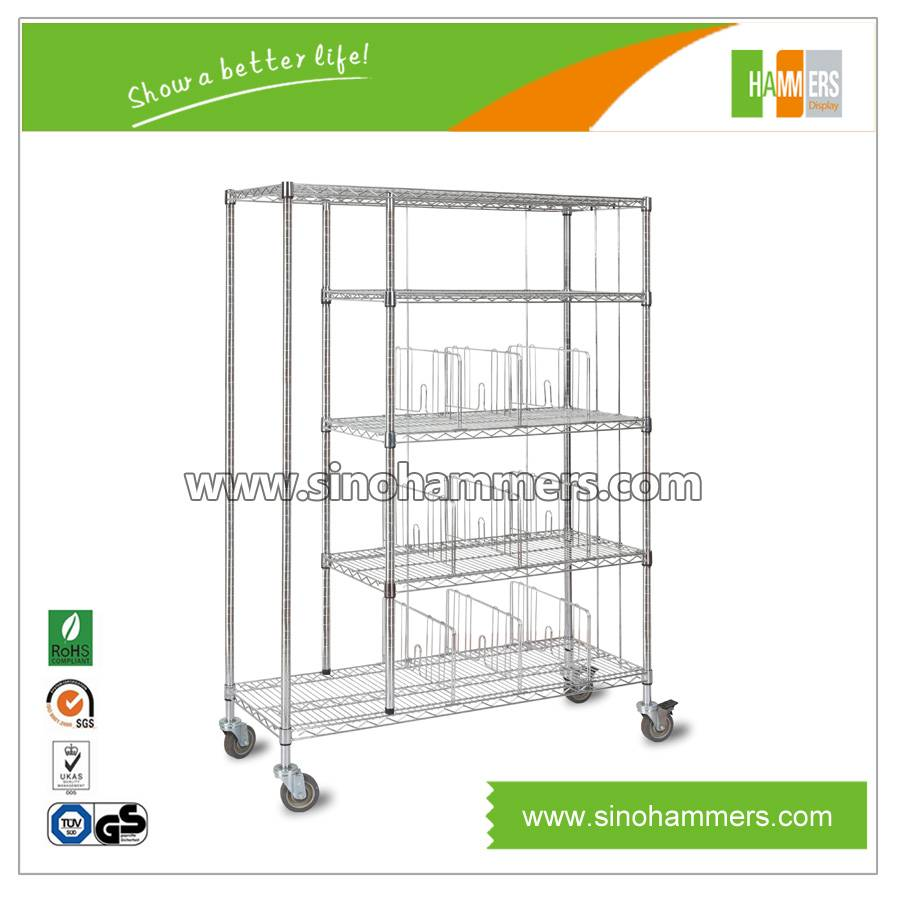cloth wire shelving| wire cart| wire trolley