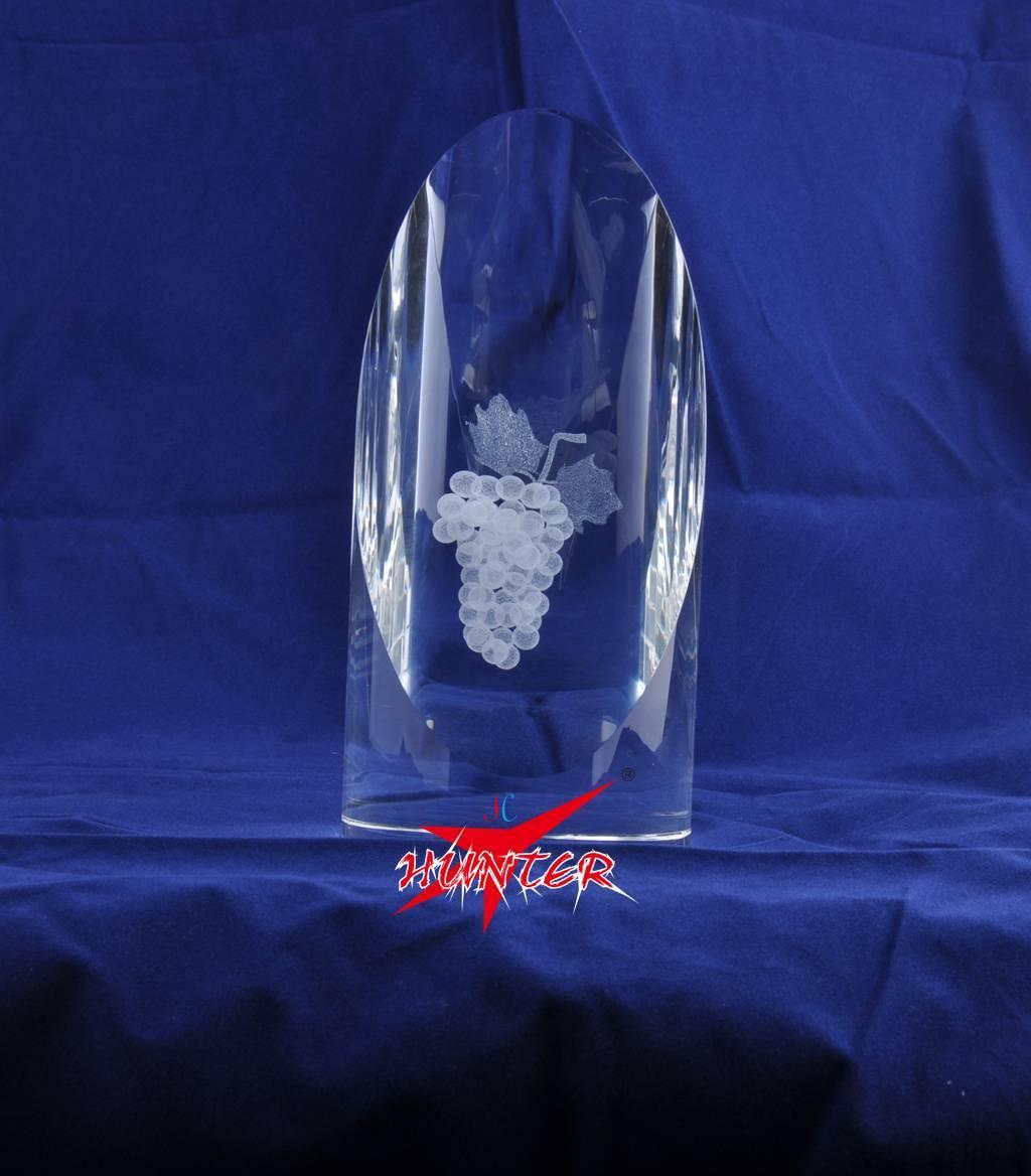 3 D Laser Crystal,K9 Grape Crystal Block,Crystal Gift Favors