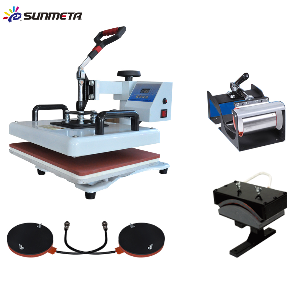 sublimation machine 8 in 1 combo heat press machine from China