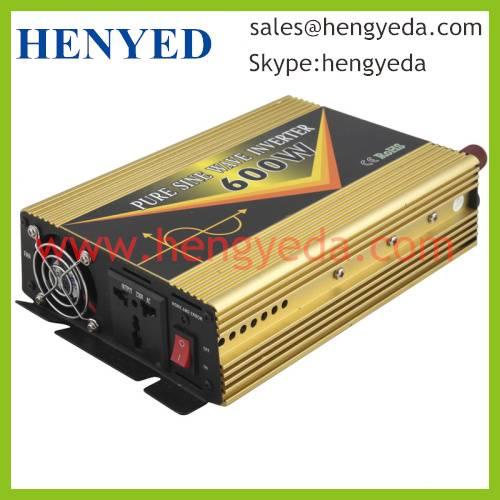 600W DC to AC Pure Sine Wave solar Power Inverter (HYD-600P)