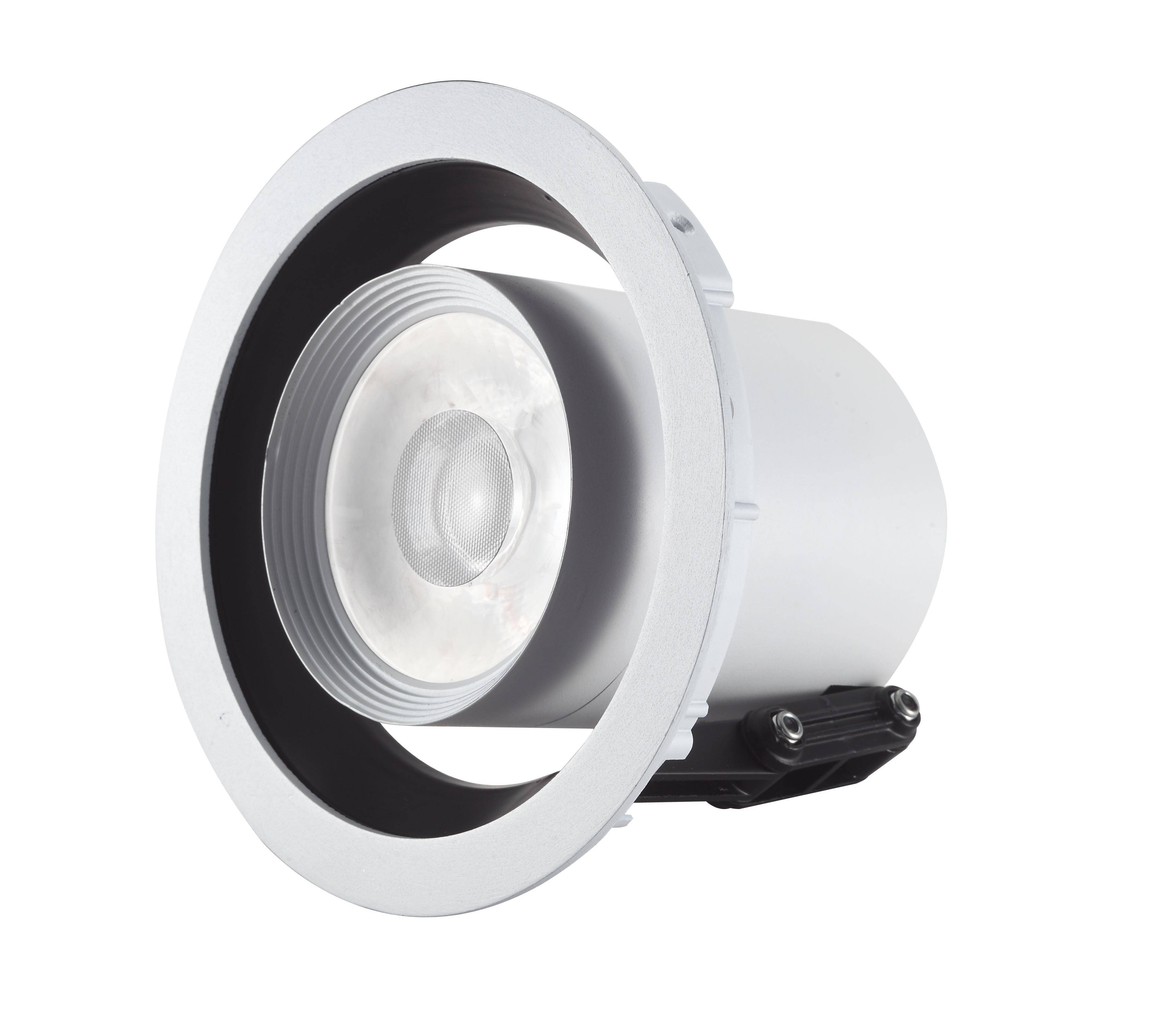 LED recessed downligh 25W  COB chip with lens