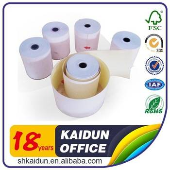 Customized Thermal carbonless ncr cash register paper roll
