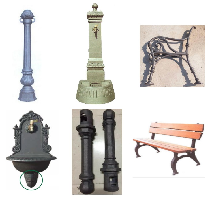Cast ductile iron street furniture