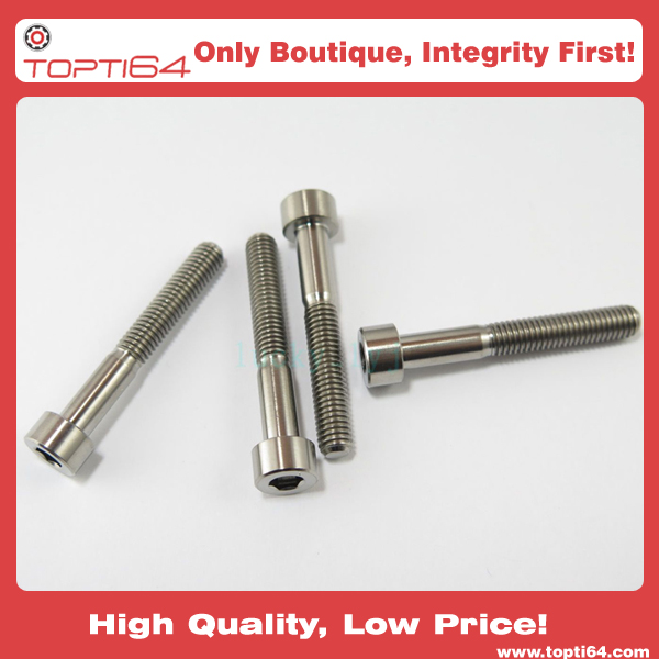 M6 x 35mm Titanium Aerospace Allen Hex Socket Cap Head Bicycle Bolt Screw