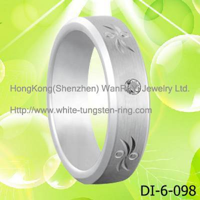 Tungsten Jewelry White Tungsten Ring