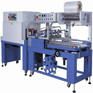 Auto L bar seal and shrink machine