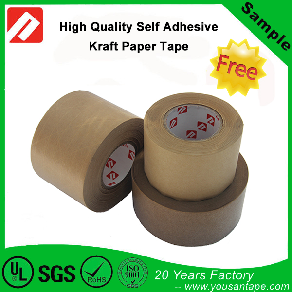 Water Activated Self Adhesive Reinforced Gummed Kraft Paper Tape