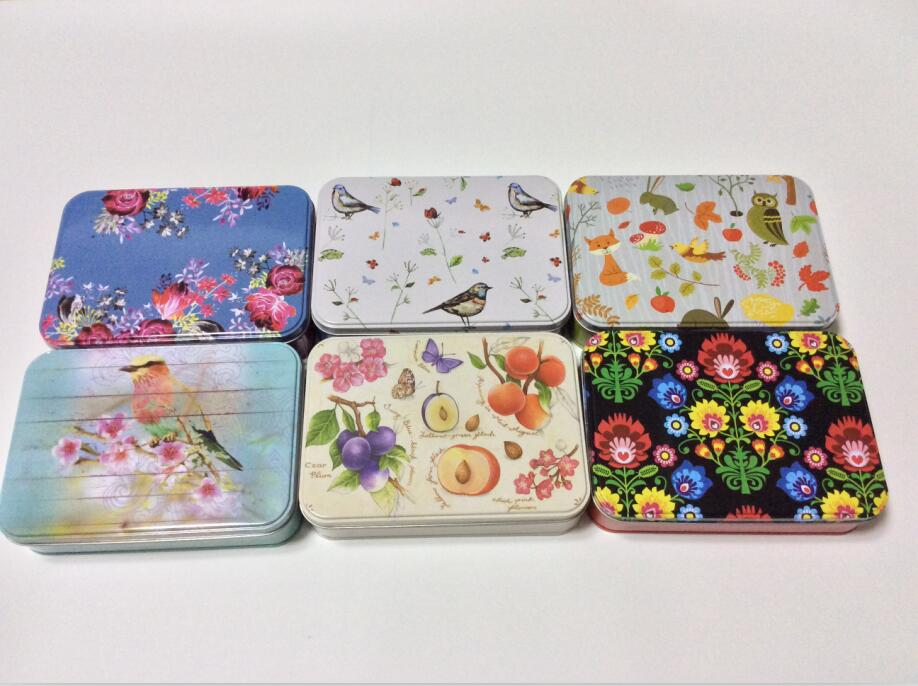 Factory Made Square metal case Stationery tin Box