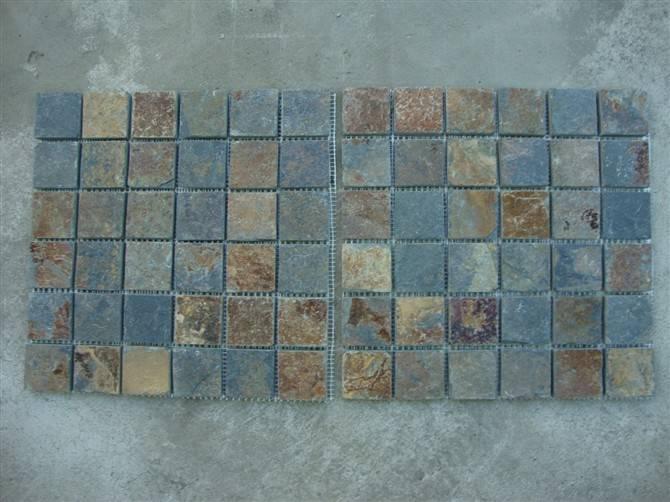 Slate mosaic pattern GS-SL34