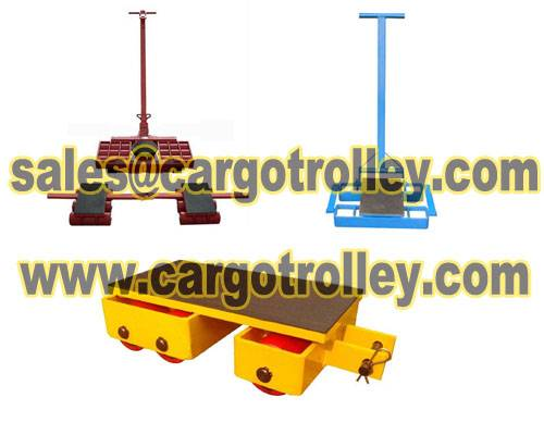 Steerable machinery skates suitable for moving heavy loads