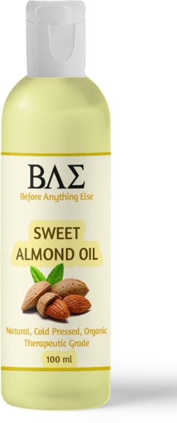 Pure Sweet Almond Oil, Cold Pressed, Natural Carrier Oil