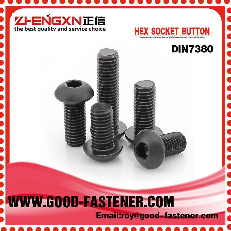 Stud Bolts DIN7380 China gold manufacture hexagon socket button bolt