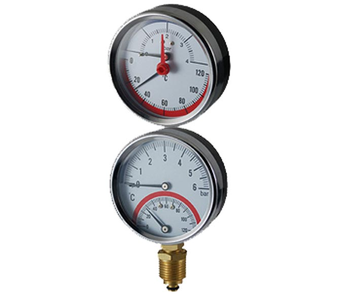thermobarometer-steel case with check valve
