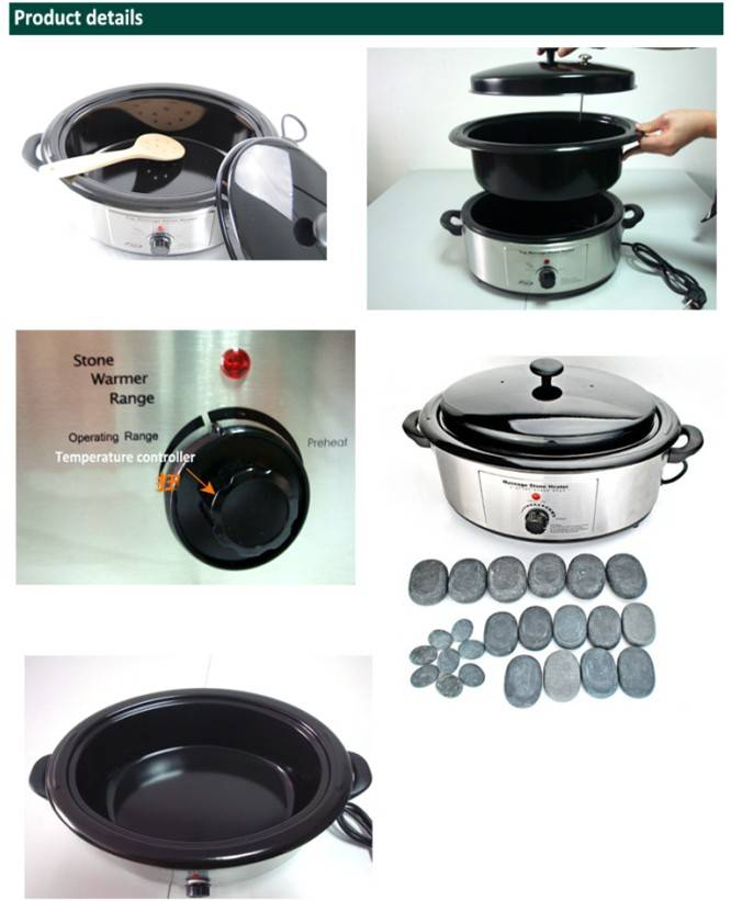 Deluxe professional Hot stone bowl,hot massage stone heater with CE RoHS