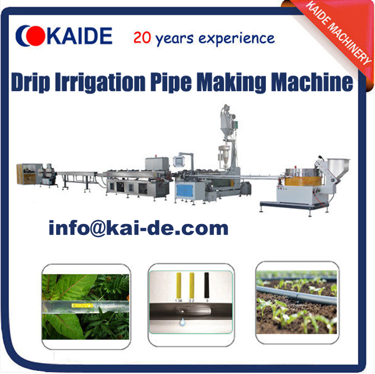 inline flat drip irrigation tape making machine for sale
