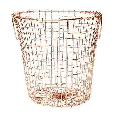 Metal Wire Under Shelf Hanging Storage Copper Basket For Kitchen Wholesale