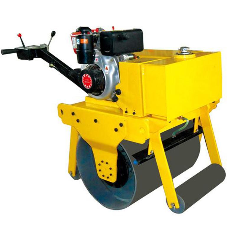 mini single drum handle compactor road roller