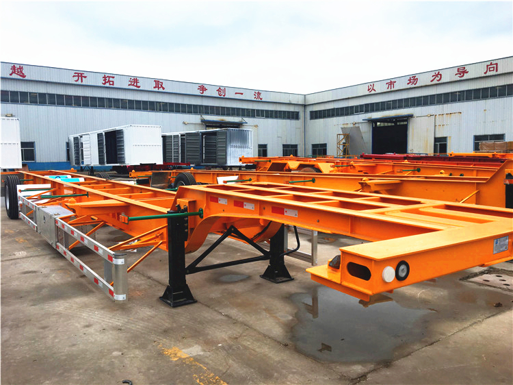 Hongdong brand 40ft Skeleton Container Transport Trailer with BPW axles