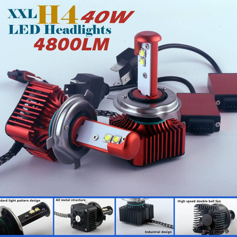 IDEA patent new canbus car LED H4 headlights 40w 4800lm 12v 24v