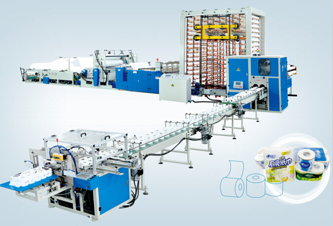 Toilet paper roll production line