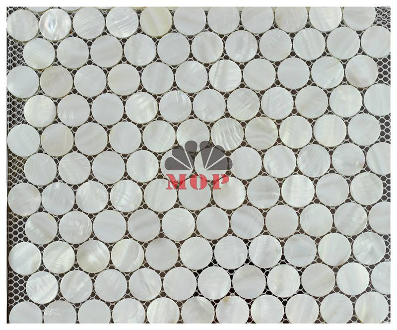 pure white mesh shell tile wall decoration