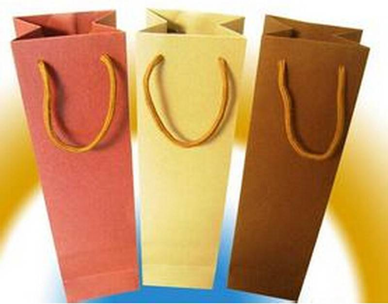Wine packaging paper bag