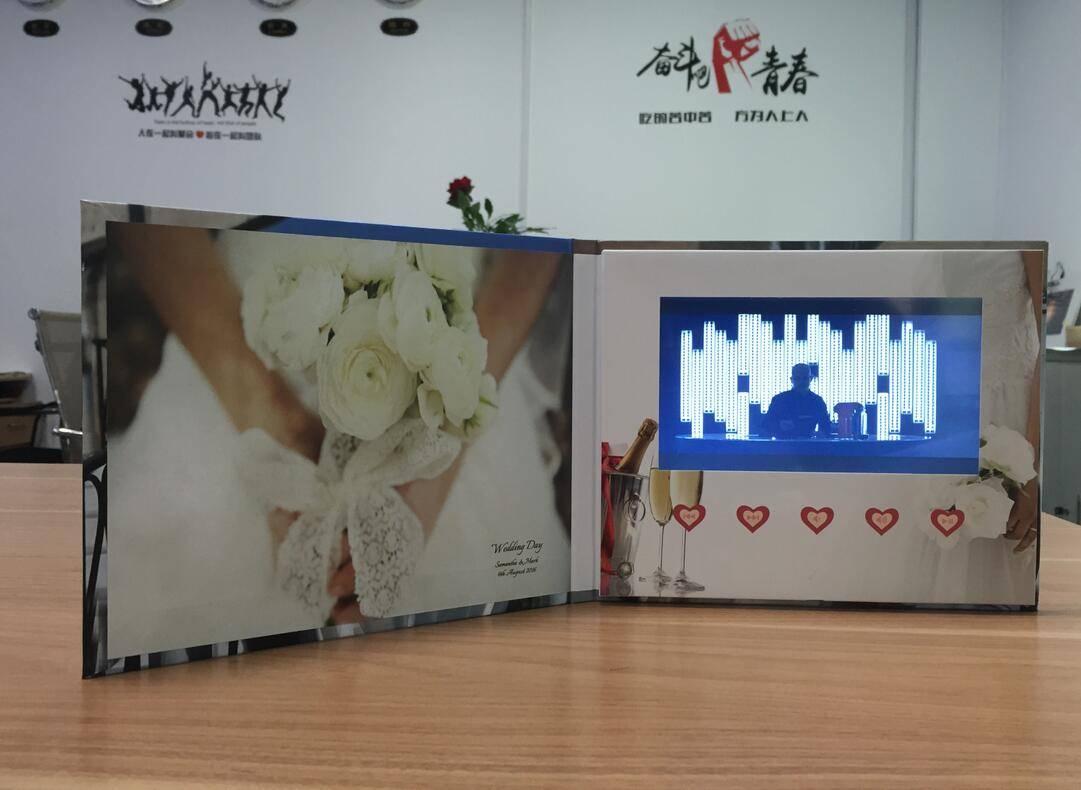 "new design 7"" lcd wedding invitation card, digital video brochure"