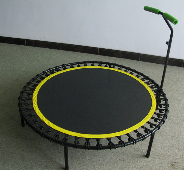 Mini Round Trampoline with handle bar