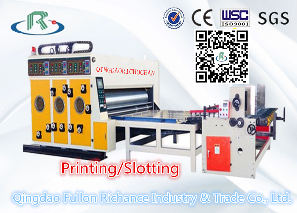 Multi-Color Water Ink Cardboard Printing Slotting Machine