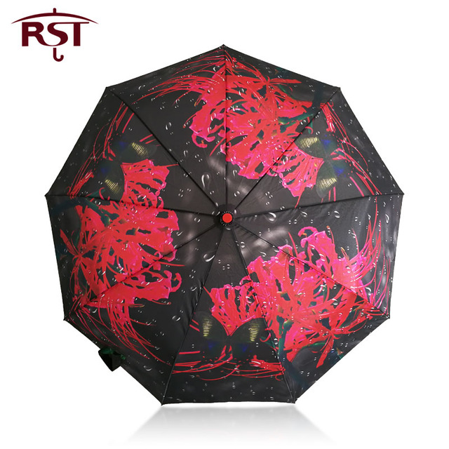 RST oil painting art woman umbrella folding brand quality 9Ribs windproof umbrella Parasol Paraguas