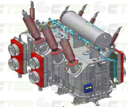 500kV Oil Immersed Three Phases Power Transformer